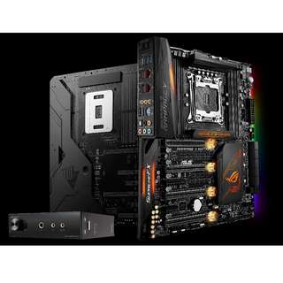 [Excellent Condition] ASUS ROG X99 Rampage V Edition 10 Motherboard with EKWB Monoblock