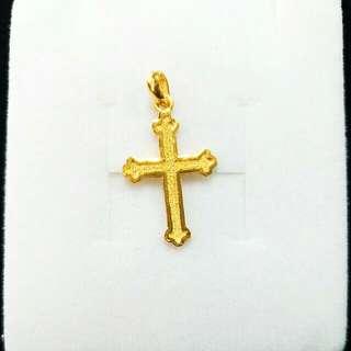 【TB】9999純金 十字架墜飾