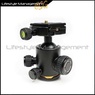 DSLR Camera Tripod Ball Head Ballhead With Quick Release Plate Ballhead