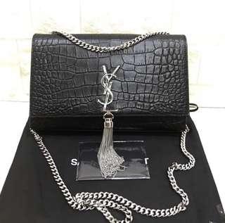 ysl tassel croco stamped mirror replica bag