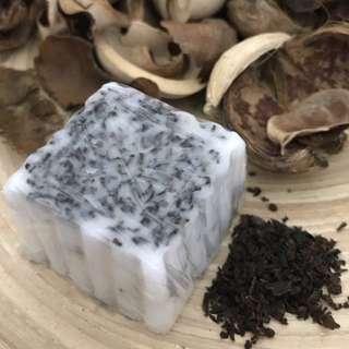Customised Tea leaves scrub & tea tree oil infused handmade soap