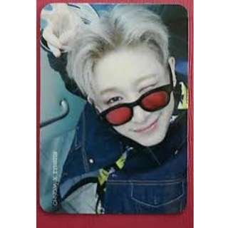 ON HAND OFFICIAL PHOTOCARD MONSTER X WONHO FOUND
