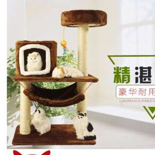 {In Stock} Cat Condo/Scratcher K88 (Baby Pink, Brown)