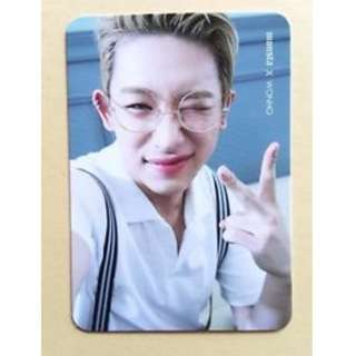 ON HAND OFFICIAL PHOTOCARD MONSTER X WONHO MONBEBE PICNIC