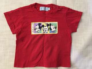 Charity Sale! Authentic Disney Baby Mickey Mouse T-shirt Size 80