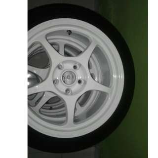 Enkei Rims (17'') with tyres