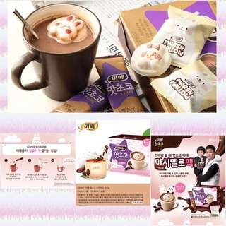 韓國直送 可愛漂浮兔仔熱朱古力粉(HKD 75.00/ 盒 (購盒2盒起)