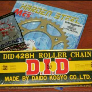 SNIPER MX CHAIN AND SPROCKETS !  FREE INSTALLATIONS !