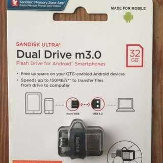 SANDISK ULTRA DUAL DRIVE M 3.0 32GB