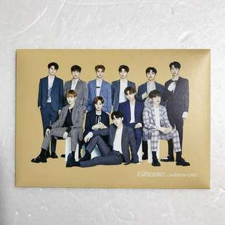 ON HAND OFFICIAL SEALED Wanna One Ghana Postcard Set