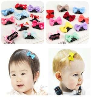 (Pair)Baby clip on hair clip