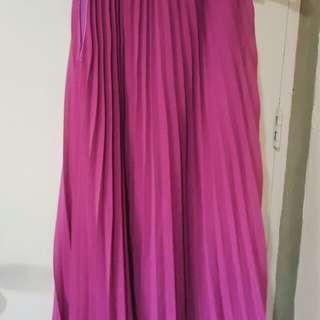 Pleated Halter Dress (Size: M-XL)