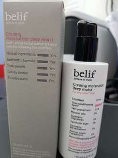 Faceshop Belif creamy deep moist moisturiser