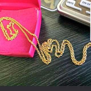 916 Gold Necklace 60cm last stock!