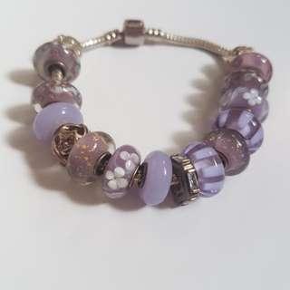 Floral lilac bracelet
