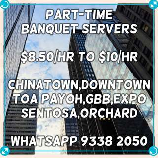 Part-Time Banquet Servers ($8.50/hr to $10/hr)
