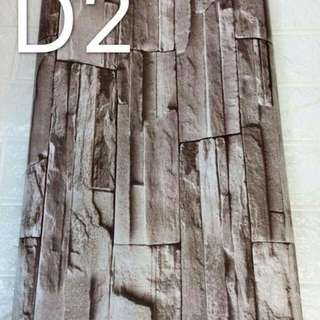 Bricks design self adhesive wallpapers
