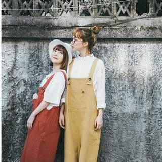 全新💝Queen shop口袋造型寬版吊帶褲(軍綠)