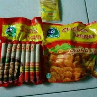 Paket sosis dan nugget