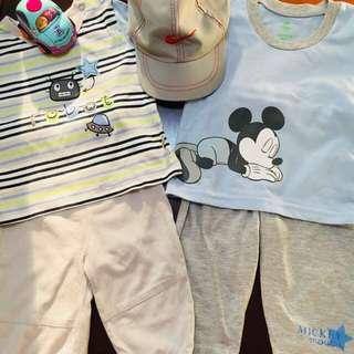 Sale!!! Bundle terno disney mickey mouse and hush hush shirt and pants.