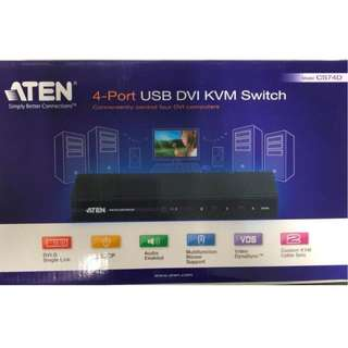 ATEN CS74D 4-Port USB DVI KVM Switch
