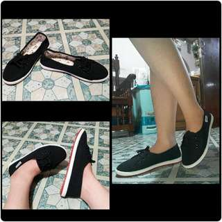 Topsider black rubber shoes