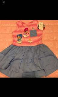Instock now shimmer and shine authentic dress brand new size avail for 2T to 5T