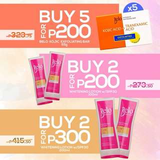 Belo Kojic Bar & Belo Essentials Lotion