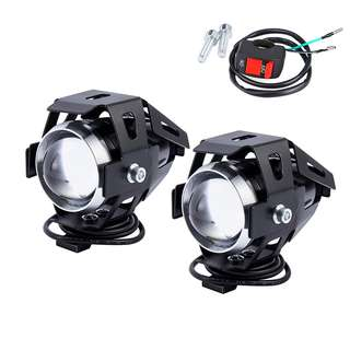 2pc 125W U5 Motorcycle dirt bike LED Headlight Fog Lights Bulb for honda BMW etc