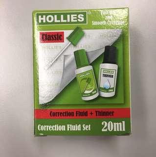 Hollies 油掃塗改液 correction fluid + thinner set