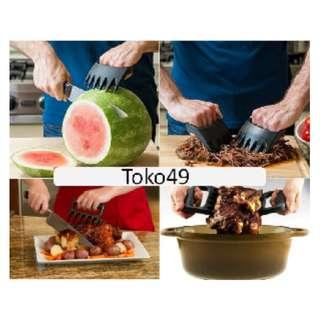 Alat Bantu Potong Sayat Daging Steak Cakar Penahan Daging Buah- HPD059