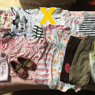 Take all kids clothes 6-12m baby girl