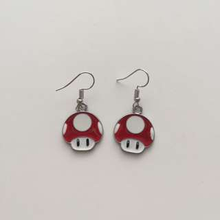 MARIO RED MUSHROOM EARRINGS