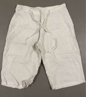 Banana Republic White Knee Length Shorts