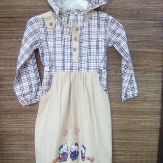 Dress hoodie motif Burberry