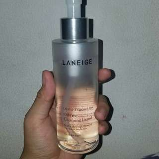 Pembersih make up muka - Laneige Oil Free Cleansing Liquid