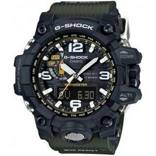 CASIO G-Shock Limited Edition Black/Green Solar Mudmaster Mens Watch GWG-1000-1A3DR