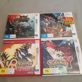 Monster Hunter and Pokemon 3DS Games
