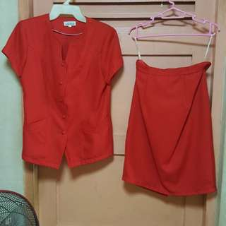 Blouse and skirt set