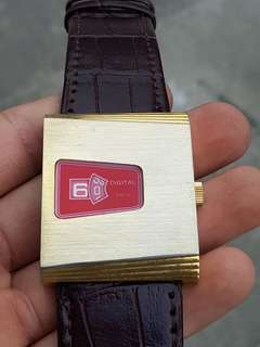 Jam tangan Rare Vintage Jump Hour Swiss Made