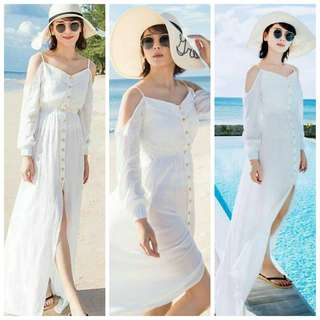 Beach White Maxi Dress