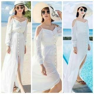Beach White Maxi Dress