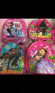 Instock kids goodies bag .. durable can use after event as casual bag brand new .. character have frozen/Sofia/Moana/trolls /paw patrol/spiderman /pj mask and mc queenbulk purchase pls pm me
