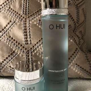 O Hui Miracle Aqua Toner and gel cream
