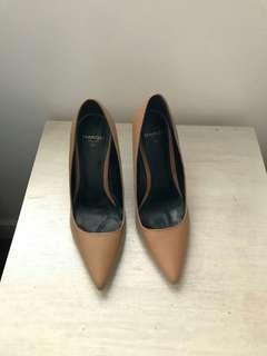 Mango nude pump shoes