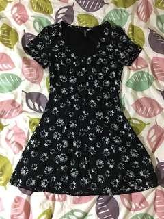 H&M Black Dress 黑色碎花裙