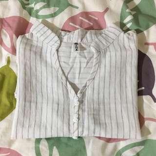 White Stripe Top 白底橫紋上衣