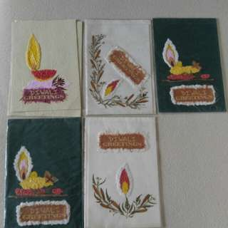 New Diwali Greeting cards  Made with dry flowers and handmade paper.