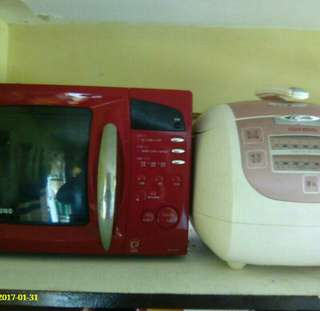 Samsung microwave and rice cooker (korean)