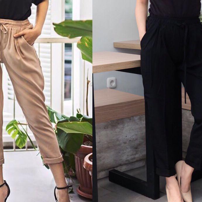 •1.12 rhea pants black new